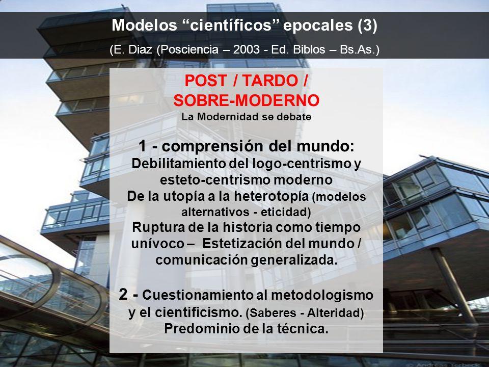 Modelos científicos epocales (3) (E.Diaz (Posciencia – 2003 - Ed.