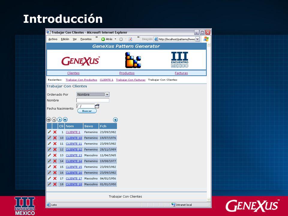 Algunas conclusiones Es la real solución a los problemas recurrentes Genera código y objetos GeneXus Ser analista del negocio y no diseñador gráfico Prototipos profesionales al instante.