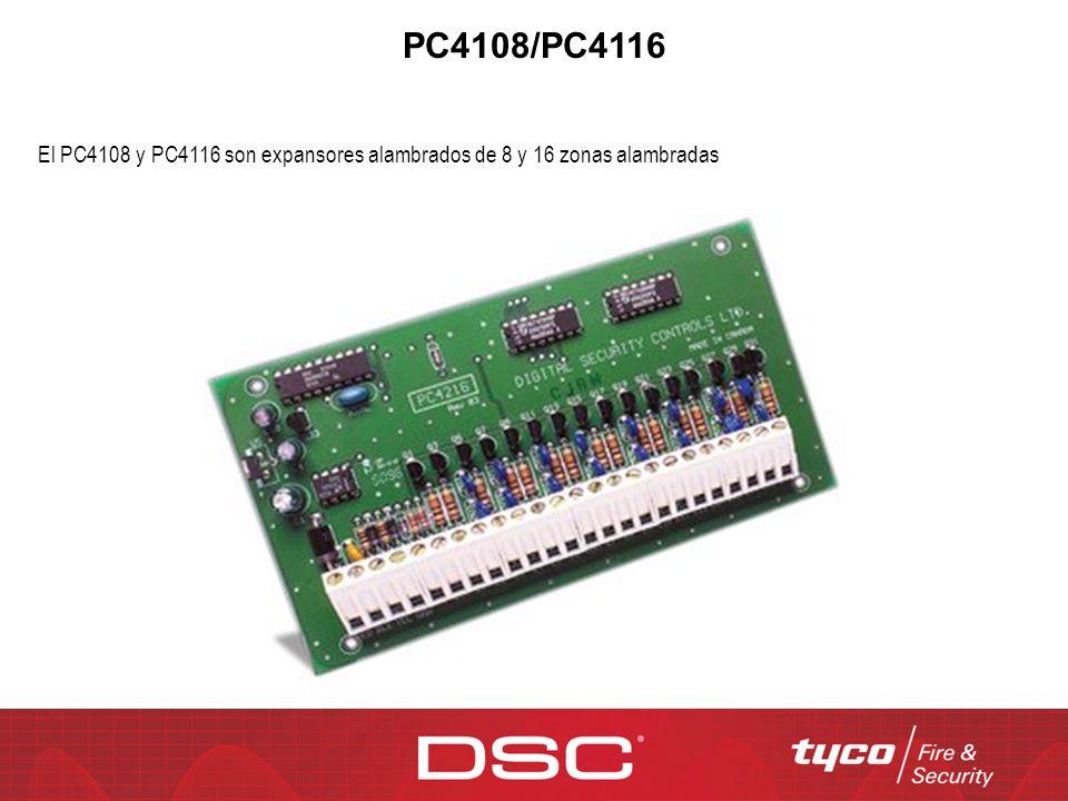 PC4108/PC4116 El PC4108 y PC4116 son expansores alambrados de 8 y 16 zonas alambradas
