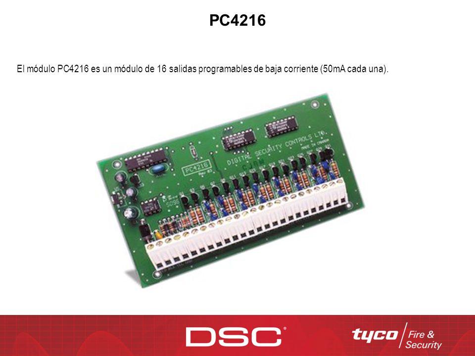 PC4216 El módulo PC4216 es un módulo de 16 salidas programables de baja corriente (50mA cada una).