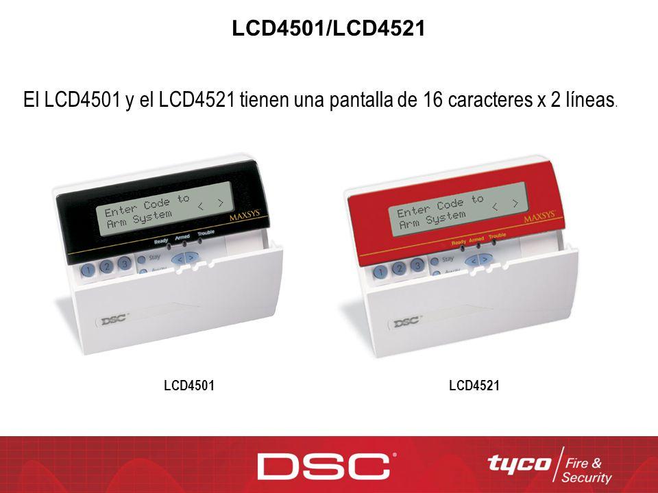 LCD4501/LCD4521 El LCD4501 y el LCD4521 tienen una pantalla de 16 caracteres x 2 líneas. LCD4521LCD4501