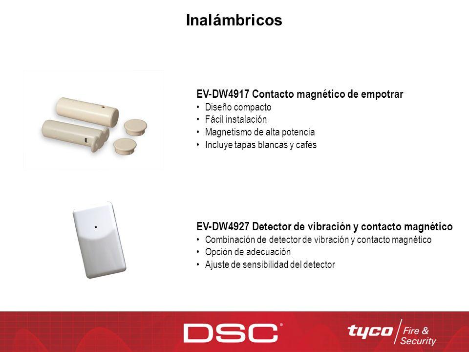 EV-DW4917 Contacto magnético de empotrar Diseño compacto Fácil instalación Magnetismo de alta potencia Incluye tapas blancas y cafés EV-DW4927 Detecto
