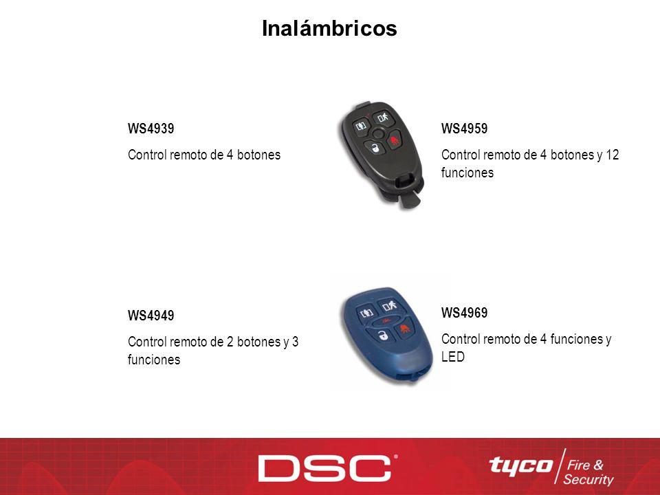 WS4969 Control remoto de 4 funciones y LED WS4939 Control remoto de 4 botones WS4959 Control remoto de 4 botones y 12 funciones WS4949 Control remoto