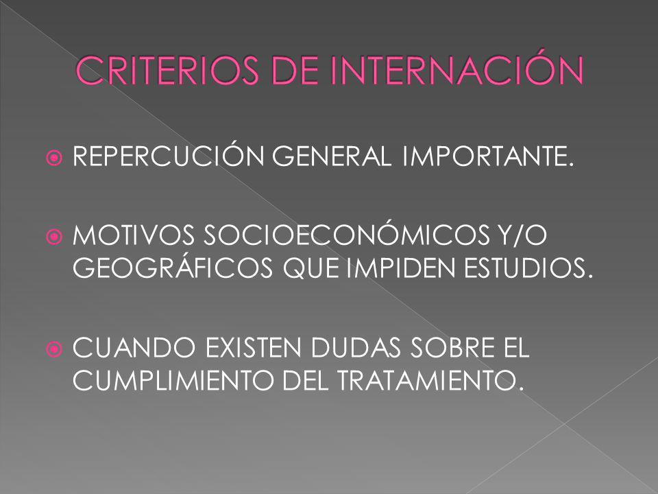 REPERCUCIÓN GENERAL IMPORTANTE. MOTIVOS SOCIOECONÓMICOS Y/O GEOGRÁFICOS QUE IMPIDEN ESTUDIOS. CUANDO EXISTEN DUDAS SOBRE EL CUMPLIMIENTO DEL TRATAMIEN