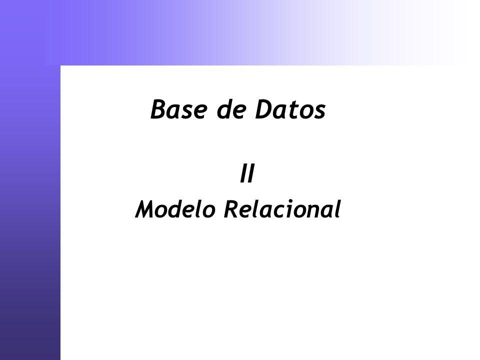 Pasaje MER - Relacional Proceso de transformación de un concepto a una implementación Se convierten en tablas: Entidades fuertes y Atributos Relaciones Agregaciones Entidades Débiles No existe un pasaje totalmente automatizado
