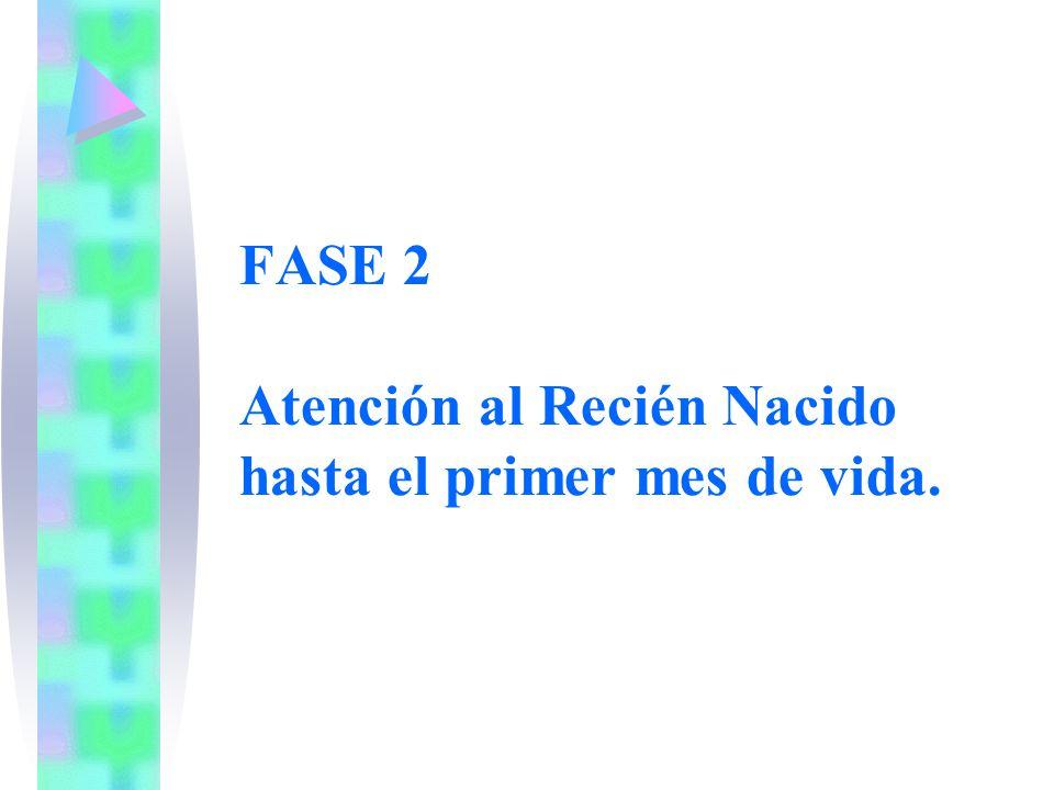 FASE 2 Atención al Recién Nacido hasta el primer mes de vida.
