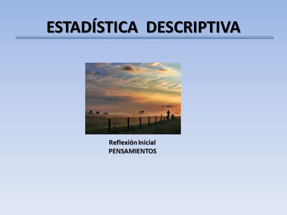 ESTADÍSTICA DESCRIPTIVA Reflexión Inicial PENSAMIENTOS
