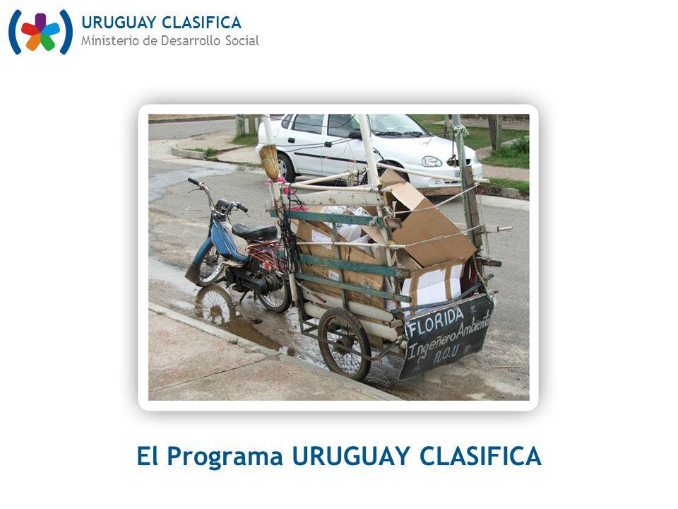URUGUAY CLASIFICA Ministerio de Desarrollo Social El Programa URUGUAY CLASIFICA