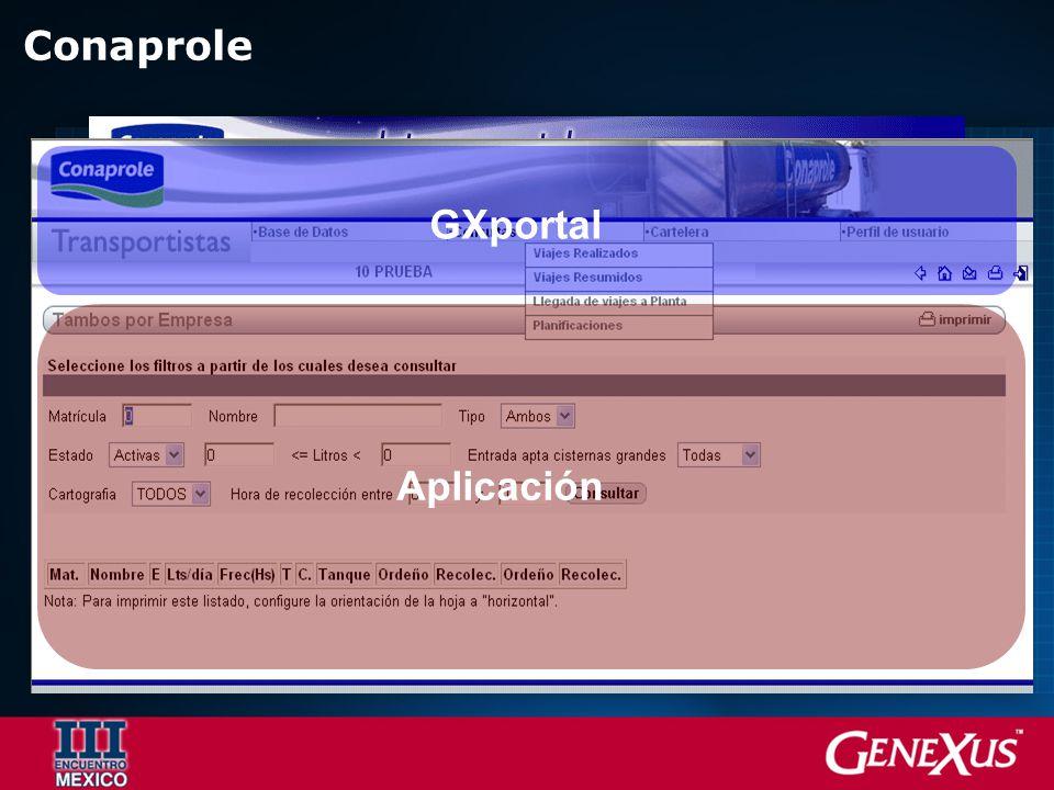 Conaprole Aplicación GXportal