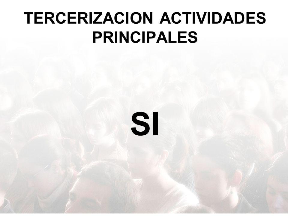 TERCERIZACION ACTIVIDADES PRINCIPALES SI