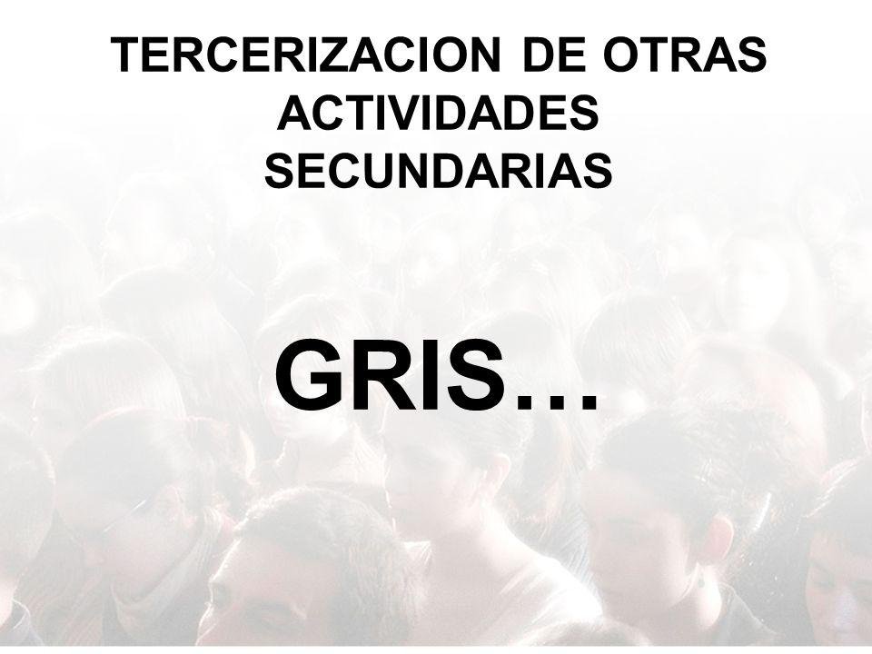TERCERIZACION DE OTRAS ACTIVIDADES SECUNDARIAS GRIS…