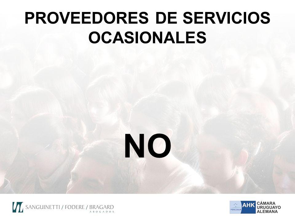 PROVEEDORES DE SERVICIOS OCASIONALES NO