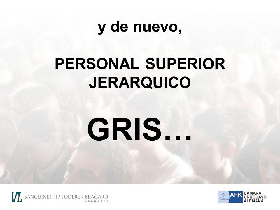 y de nuevo, PERSONAL SUPERIOR JERARQUICO GRIS…