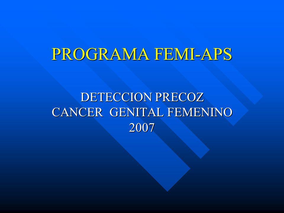PROGRAMA FEMI-APS DETECCION PRECOZ CANCER GENITAL FEMENINO 2007