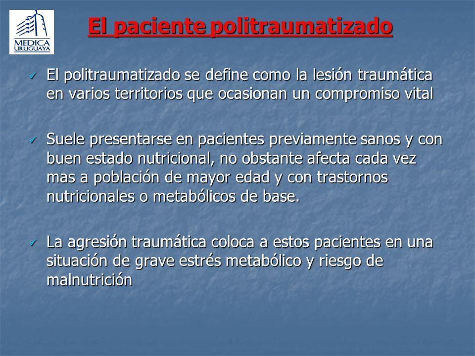 El paciente politraumatizado El paciente politraumatizado El politraumatizado se define como la lesión traumática en varios territorios que ocasionan