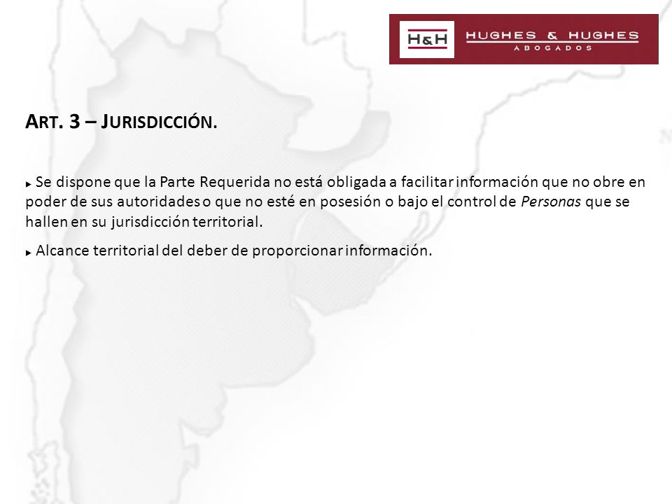 A RT. 3 – J URISDICCIÓN.