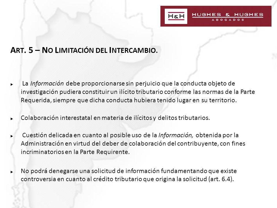 A RT. 5 – N O L IMITACIÓN DEL I NTERCAMBIO.