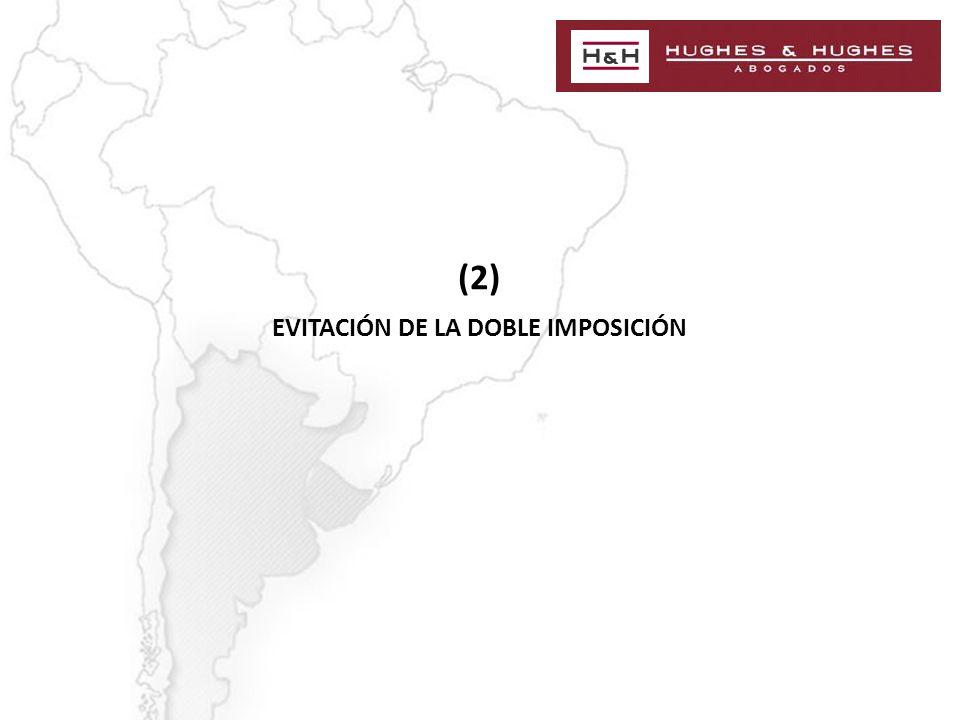 (2) EVITACIÓN DE LA DOBLE IMPOSICIÓN