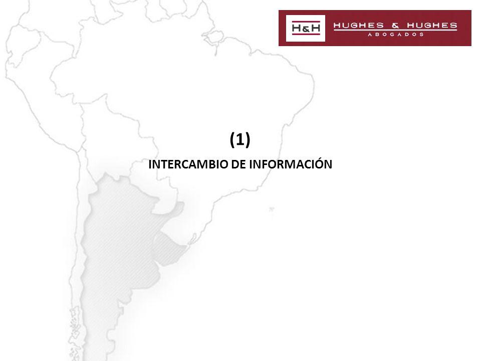 (1) INTERCAMBIO DE INFORMACIÓN