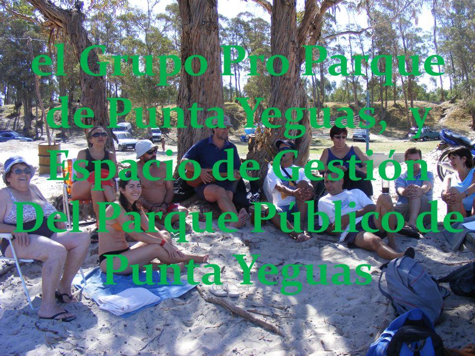 el Grupo Pro Parque de Punta Yeguas, y Espacio de Gestión Del Parque Público de Punta Yeguas