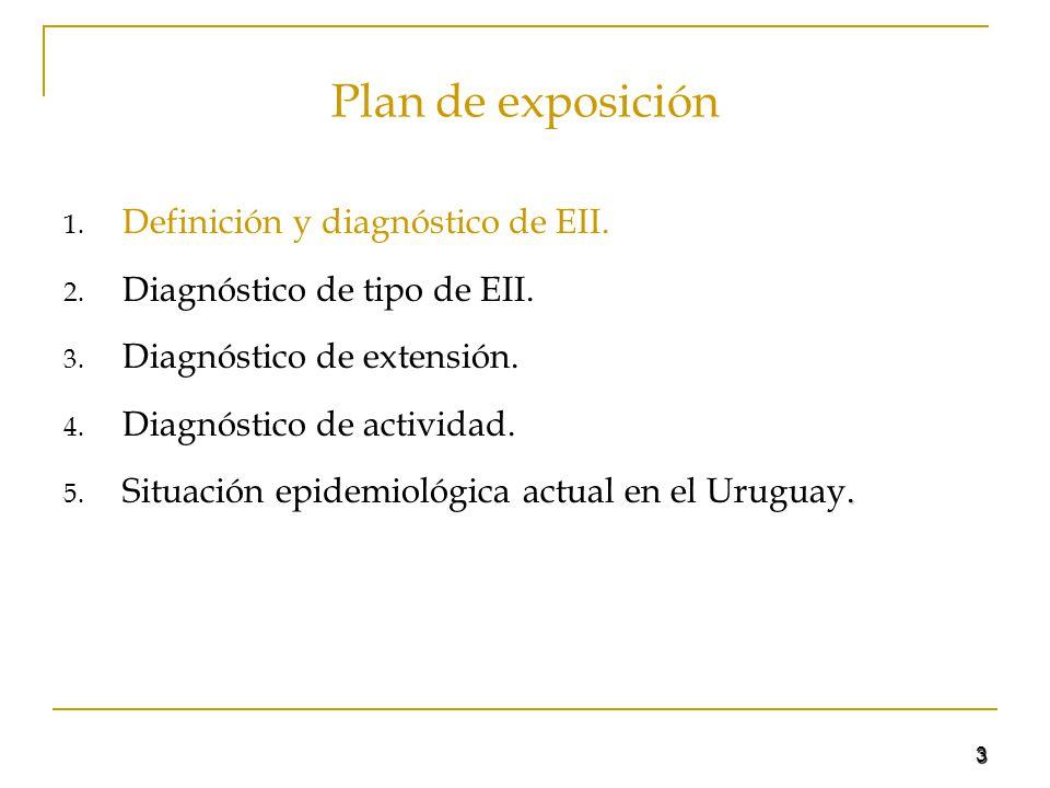 3 Plan de exposición 1. Definición y diagnóstico de EII. 2. Diagnóstico de tipo de EII. 3. Diagnóstico de extensión. 4. Diagnóstico de actividad.. 5.
