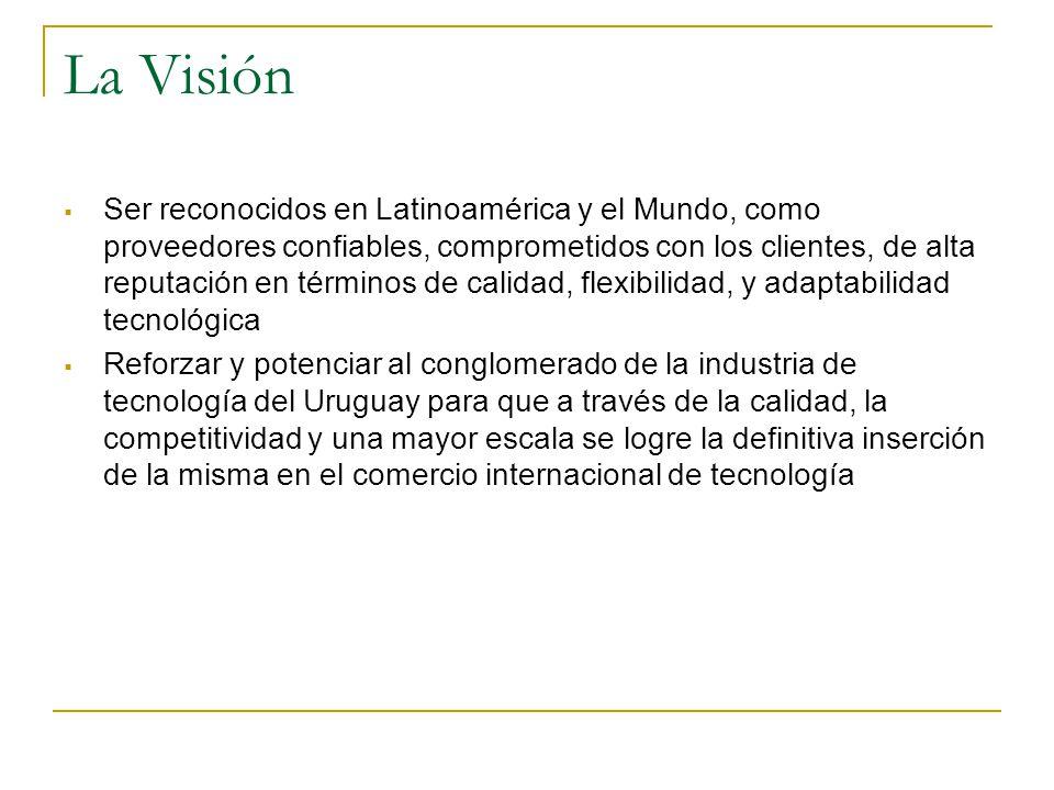 La Visión Ser reconocidos en Latinoamérica y el Mundo, como proveedores confiables, comprometidos con los clientes, de alta reputación en términos de