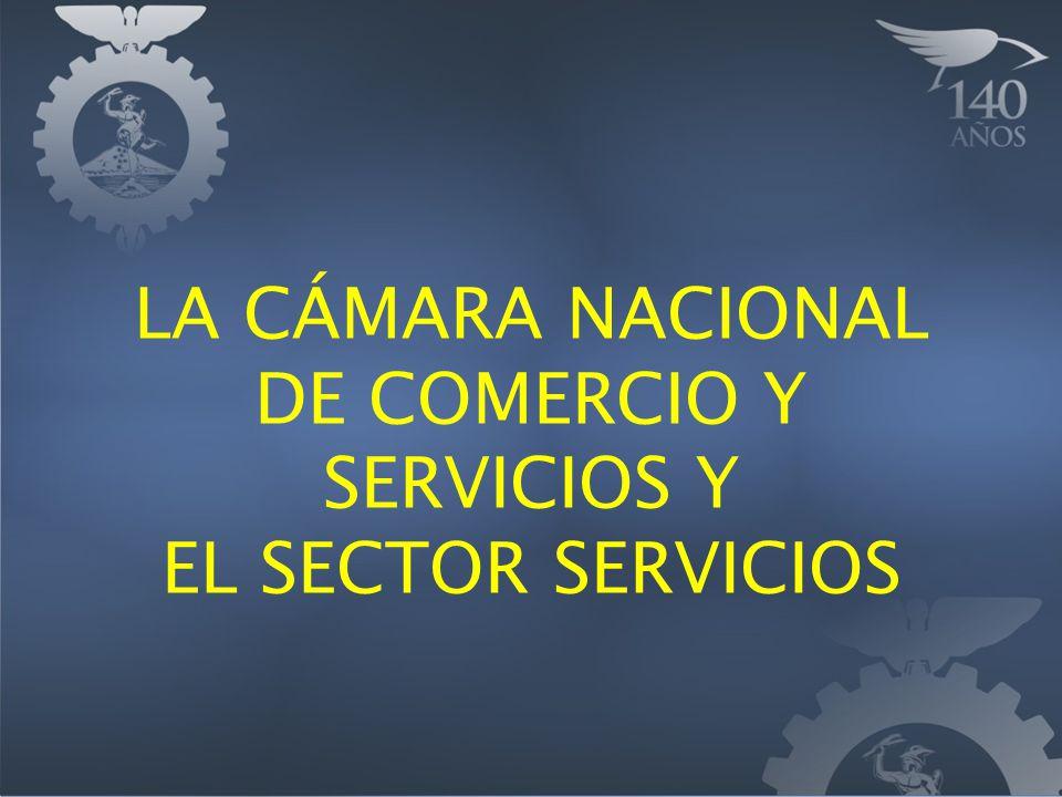 LA CÁMARA NACIONAL DE COMERCIO Y SERVICIOS Y EL SECTOR SERVICIOS
