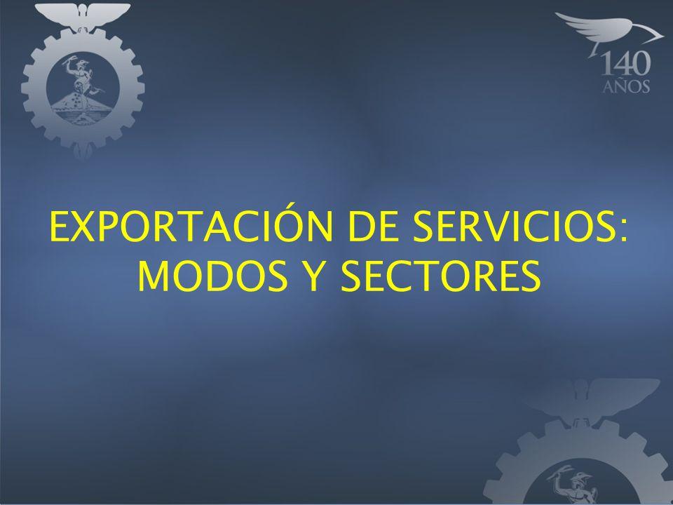 PROMOCI Ó N DE LAS EXPORTACIONES DE SERVICIOS Objetivo general: Consolidar al sector exportador de servicios y favorecer su crecimiento.