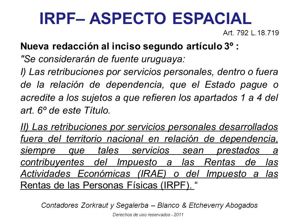 Contadores Zorkraut y Segalerba – Blanco & Etcheverry Abogados Derechos de uso reservados - 2011 IRPF - INCREMENTOS PATRIMONIALES Sustituye lit.