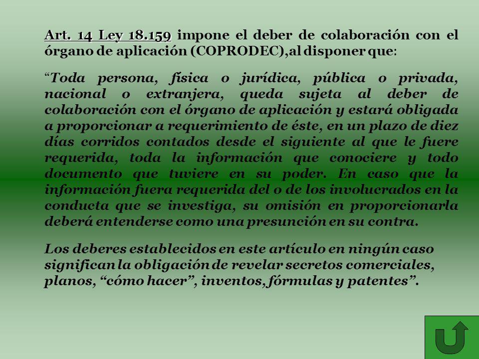 Art. 14 Ley 18.159 Art.