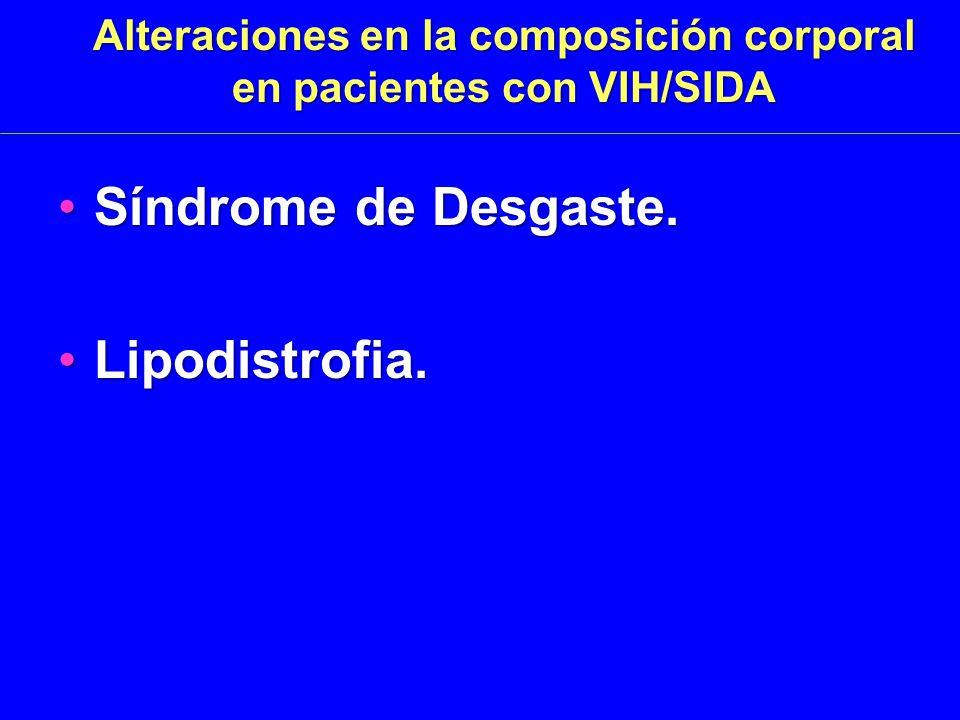 Alteraciones en la composición corporal en pacientes con VIH/SIDA Síndrome de Desgaste.Síndrome de Desgaste.
