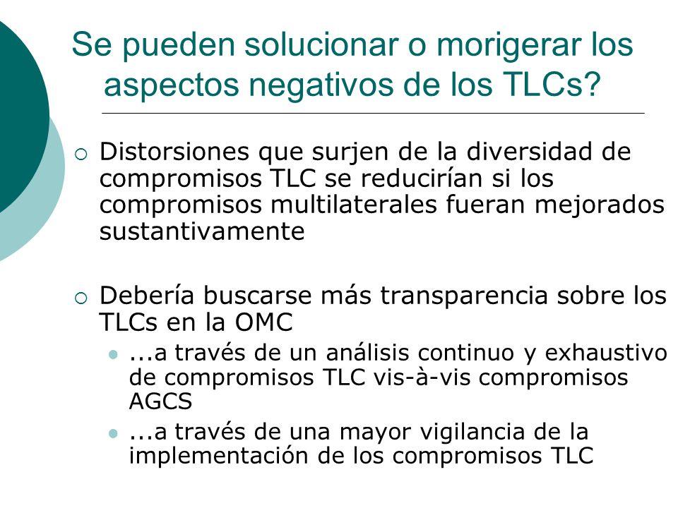 Se pueden solucionar o morigerar los aspectos negativos de los TLCs.
