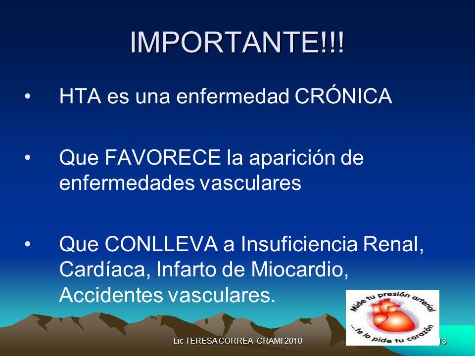 Lic TERESA CORREA CRAMI 201013 IMPORTANTE!!.