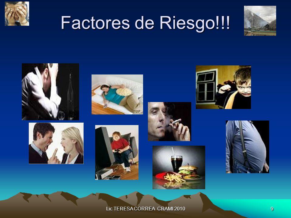Lic TERESA CORREA CRAMI 20109 Factores de Riesgo!!!