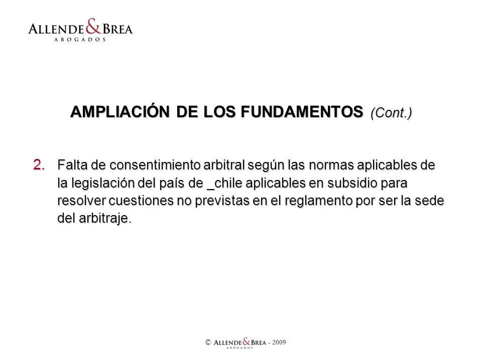 AMPLIACIÓN DE LOS FUNDAMENTOS (Cont.) 2.