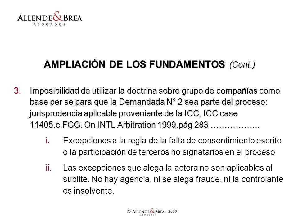 AMPLIACIÓN DE LOS FUNDAMENTOS (Cont.) 3.
