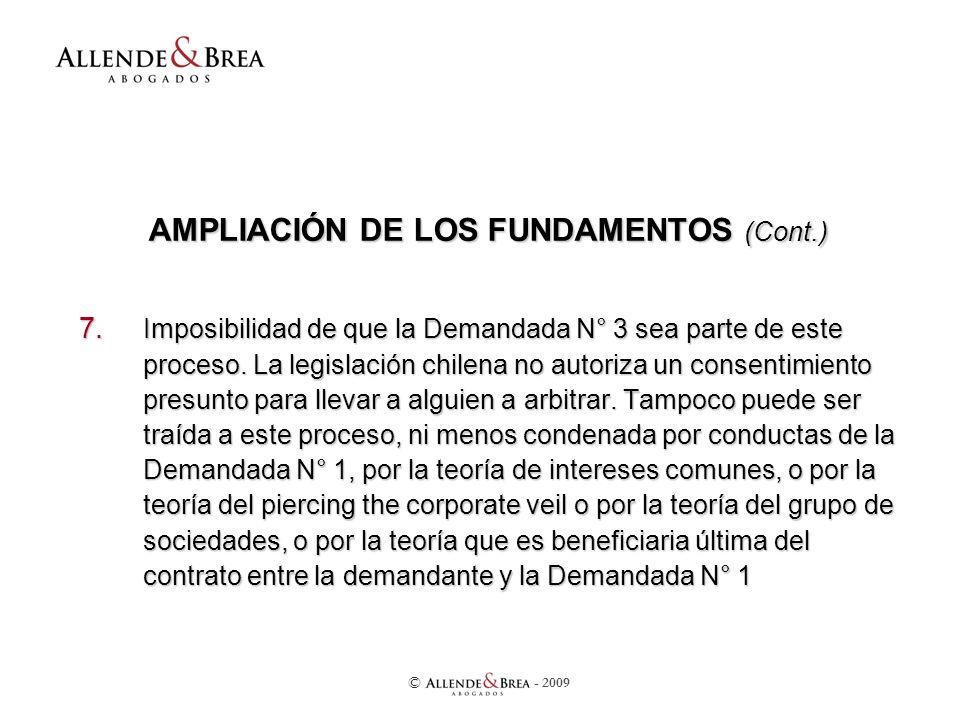 AMPLIACIÓN DE LOS FUNDAMENTOS (Cont.) 7.