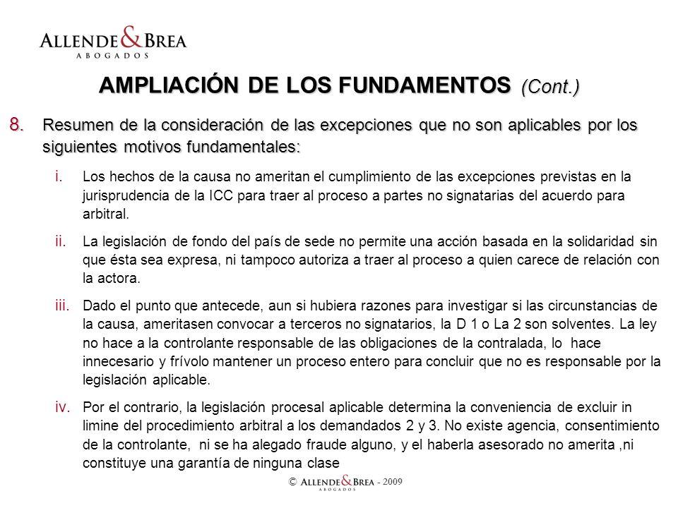 AMPLIACIÓN DE LOS FUNDAMENTOS (Cont.) 8.