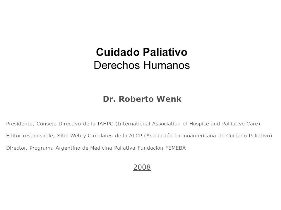 Cuidado Paliativo Derechos Humanos Dr.