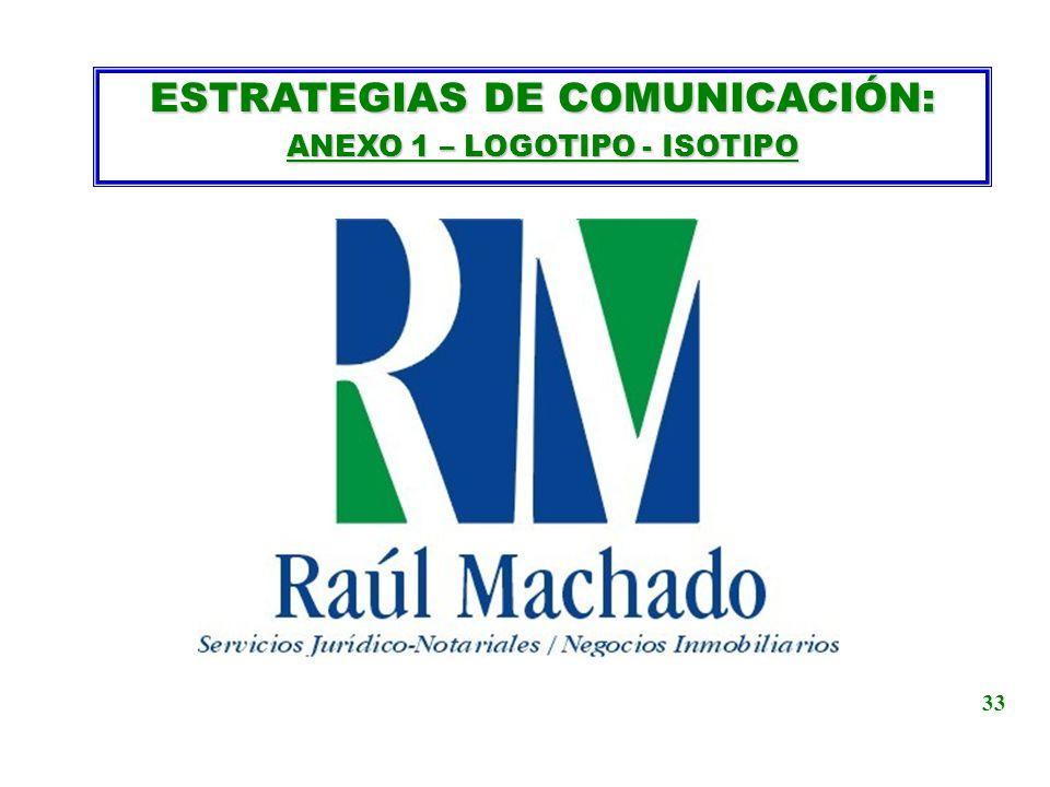 ESTRATEGIAS DE COMUNICACIÓN: ANEXO 1 – LOGOTIPO - ISOTIPO 33