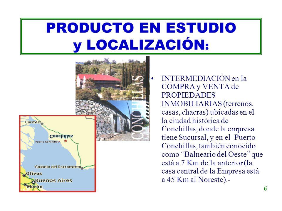 INTERMEDIACIÓN en la COMPRA y VENTA de PROPIEDADES INMOBILIARIAS (terrenos, casas, chacras) ubicadas en el la ciudad histórica de Conchillas, donde la