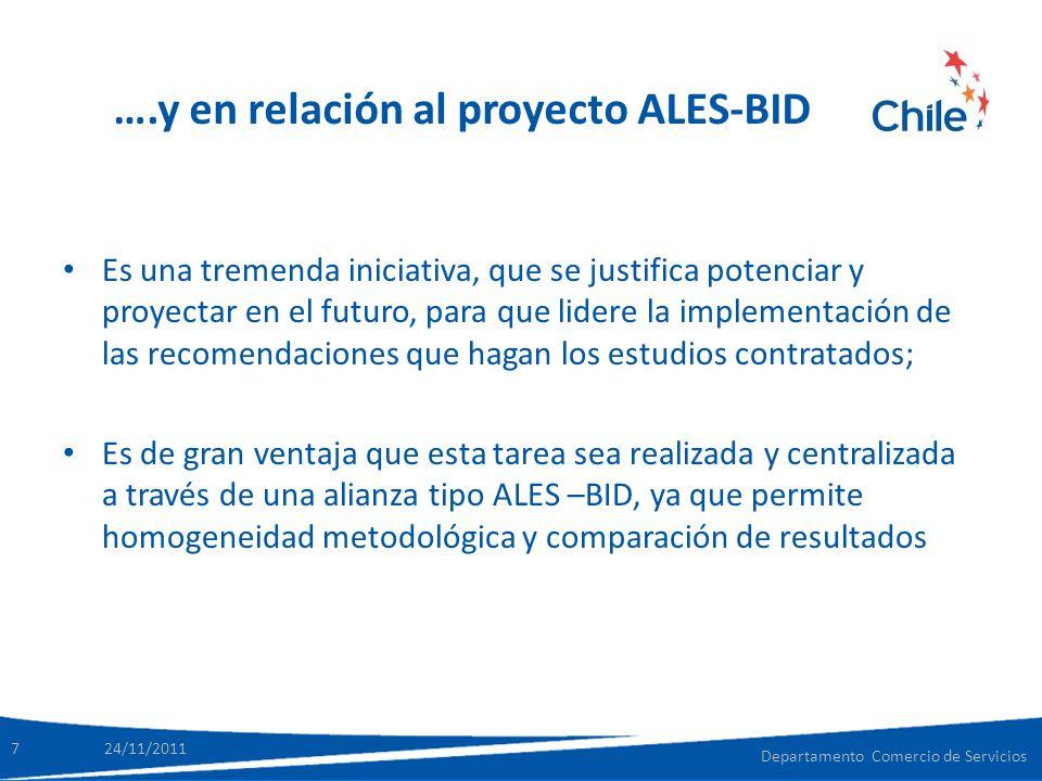….y en relación al proyecto ALES-BID Es una tremenda iniciativa, que se justifica potenciar y proyectar en el futuro, para que lidere la implementació