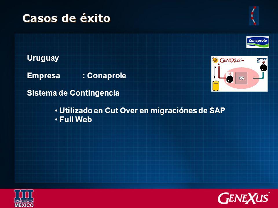 Casos de éxito Uruguay Empresa: Conaprole Sistema de Contingencia Utilizado en Cut Over en migraciónes de SAP Full Web
