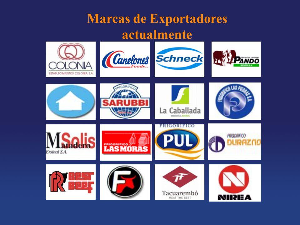 Marcas de Exportadores actualmente