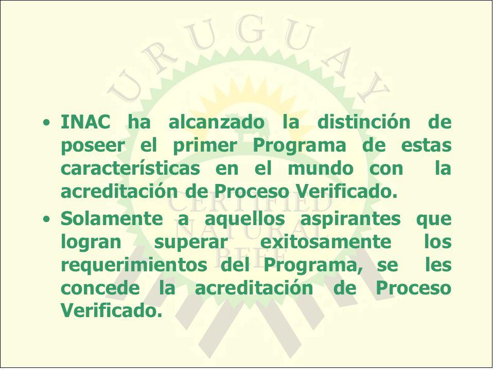 INAC ha alcanzado la distinción de poseer el primer Programa de estas características en el mundo con la acreditación de Proceso Verificado. Solamente