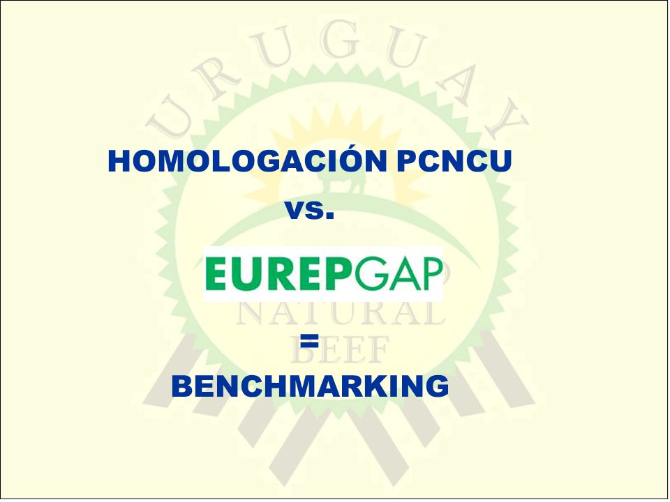 HOMOLOGACIÓN PCNCU vs. = BENCHMARKING