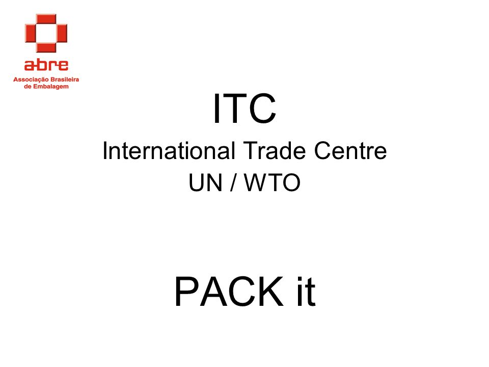 ITC International Trade Centre UN / WTO PACK it