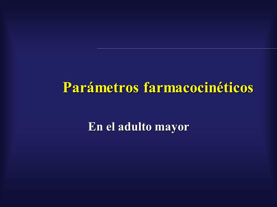 Parámetros farmacocinéticos En el adulto mayor