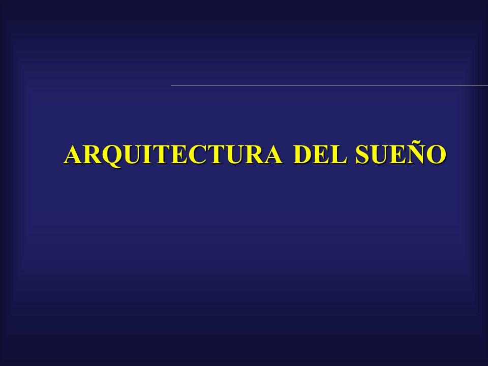 Arquitectura del sueño el sueño NoREM el sueño NoREM el sueño REM el sueño REM (con movimientos oculares rápidos, Rapid Eye Movements o sueño paradojal o sueño con ensueños)
