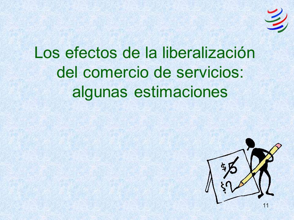 11 Los efectos de la liberalización del comercio de servicios: algunas estimaciones